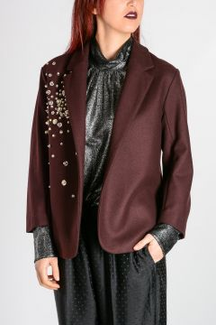 Wool Blend blazer Embroidery
