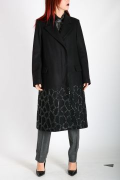 Wool blend Coat with Embroidery