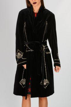 Embroidery Velvet Coat