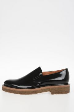 Brushed Leather Slip-On Shoes