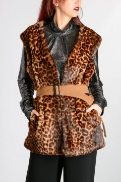 Sleeveless Real Fur Jacket