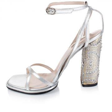 Sandalo con Applicazioni Gioiello