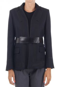 """Briona"" Wool Blazer with Belt"