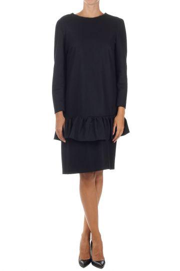 Long Sleeved Peplum Dress