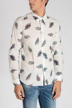 Camicia SLIM FIT con Stampa Foglie