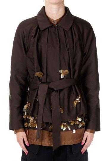 Mixed Silk Jacket with Belt