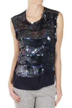 Paillettes Sleeveless Top