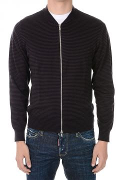 Cotton Striped Full Zip JANITOR Cardigan