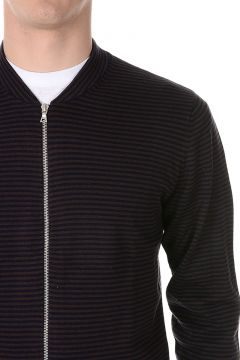 Cardigan JANITOR Full Zip in Cotone a Righe