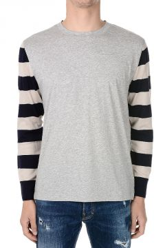 Merino Wool and Cotton T-shirt With Long sleeves