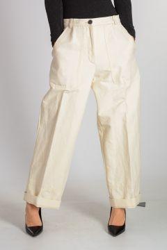 Linen Blend Wide Leg Pants