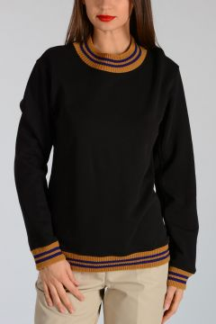 Sweatshirt HENWOOD With Knit Details
