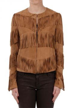 Leather Jacket with Fringes