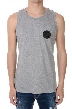 T-shirt Senza Maniche in Jersey di Cotone