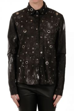 Leather Blouse With Studs