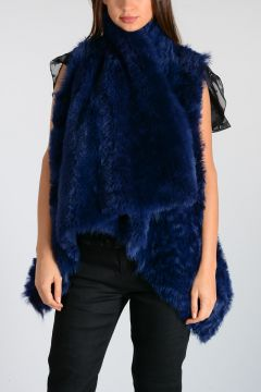 Reversible Real Fur Sleeveless Jacket