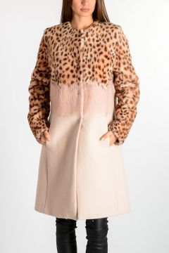 Coat With Leo Printed Fur