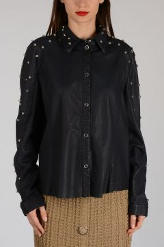Leather Jacket with Stud