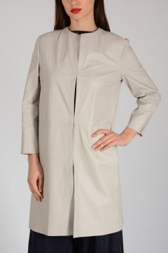 Leather 3/4 Sleeves Trench