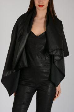 Leather Short Sleeves Jacket