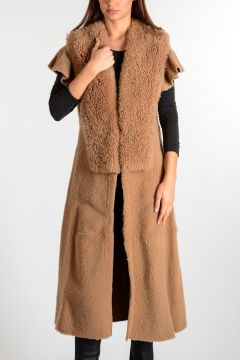 Shearling Sleeveless Coat