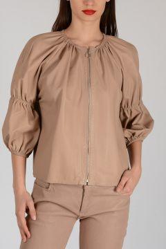 Leather 3/4 Sleeves Jacket