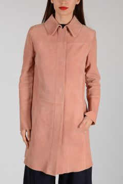 Suede Leather Trench