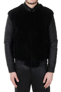 Leather Jacket with Lamb fur