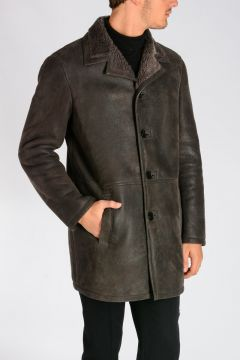 Cappotto in shearling di Agnello