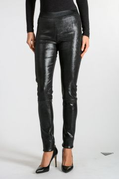 Leather Glitter Leggings