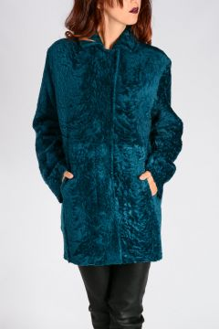 Cappotto in Pelle e Shearling