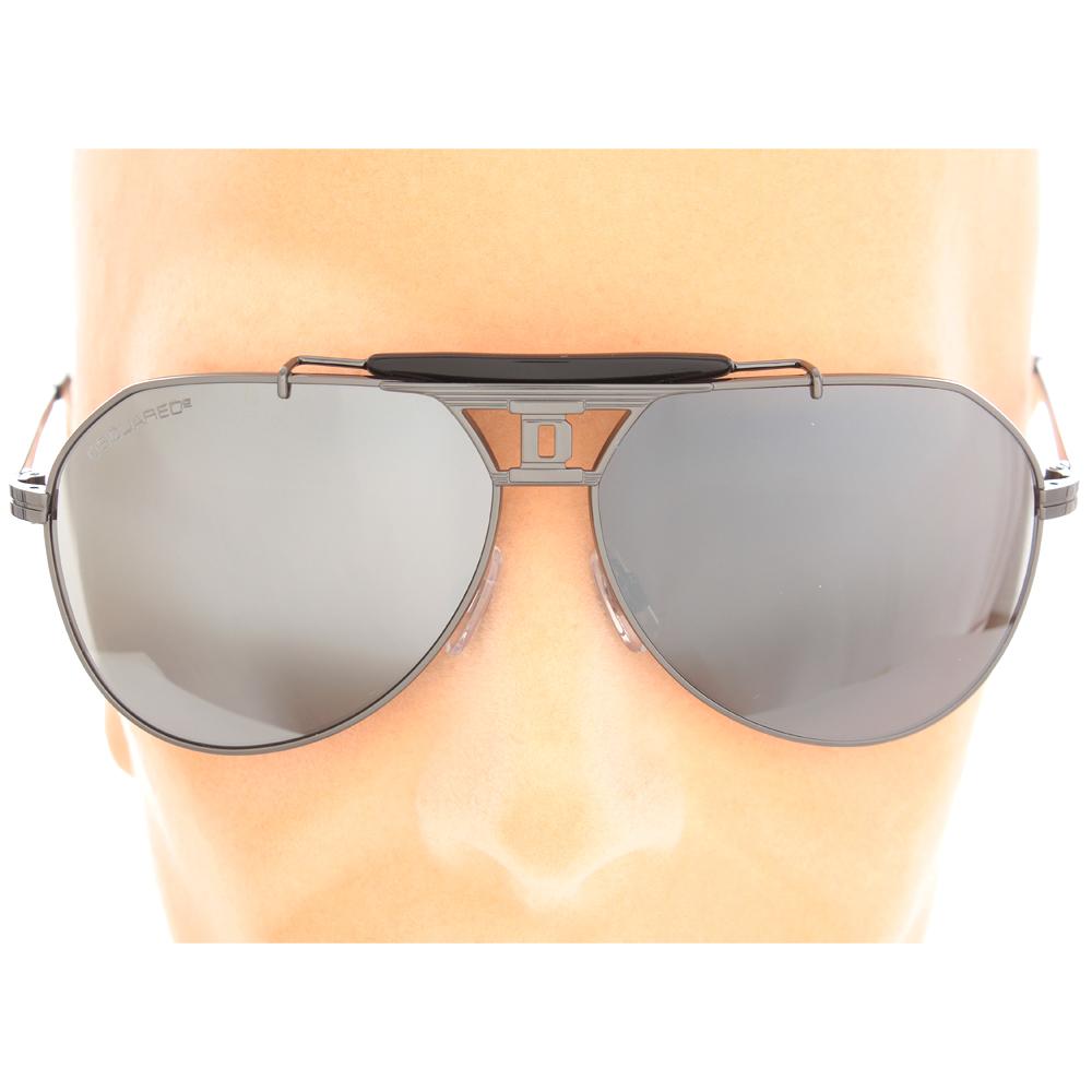 Dsquared2 uomo occhiali da sole aviator a specchio glamood outlet - Occhiali a specchio uomo ...