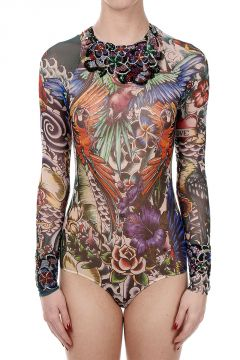 Embroidered Top Body TATTOO