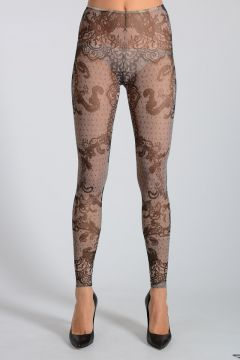Tulle Leggings Lace Printed