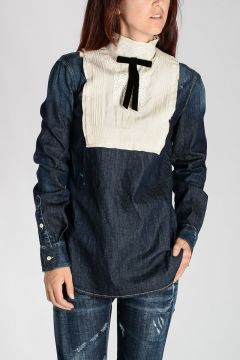 Camicia in Denim con Ricami