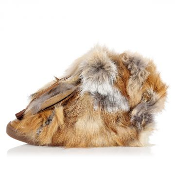 High Sneakers with Fox Fur