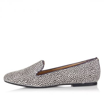 Animal print Ponyskin flat shoes