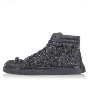 Sneakers Alte con Glitter