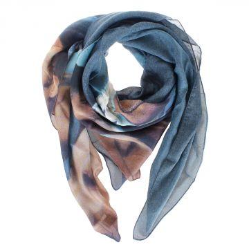 Foulard stampato in modal e seta