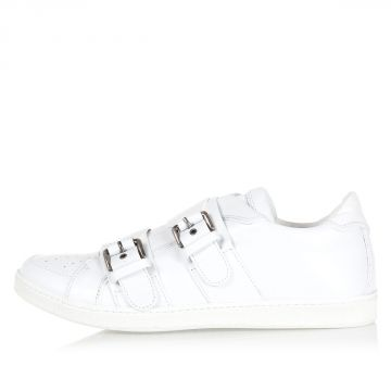Sneakers in Pelle con Fibbie