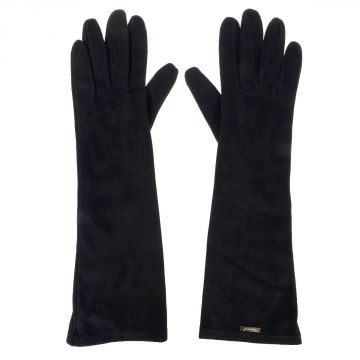 Suede long gloves