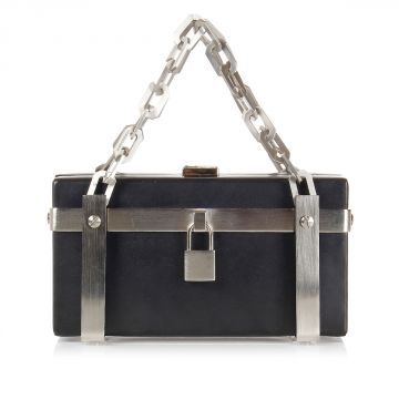 SYBIL CLUTCH CAGE in Pelle