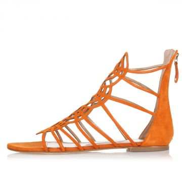 Flat Chamois Sandals