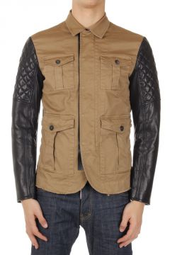 Leather Sleeved Jacket