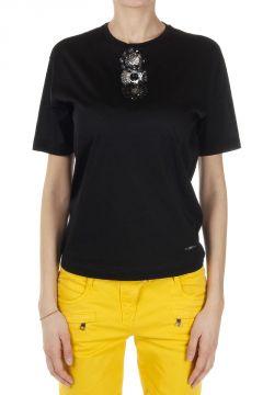 T-Shirt con Applicazione Gioiello