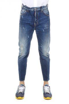 Jeans DAN ELASTIC WAIST in Denim Destroyed 16 cm