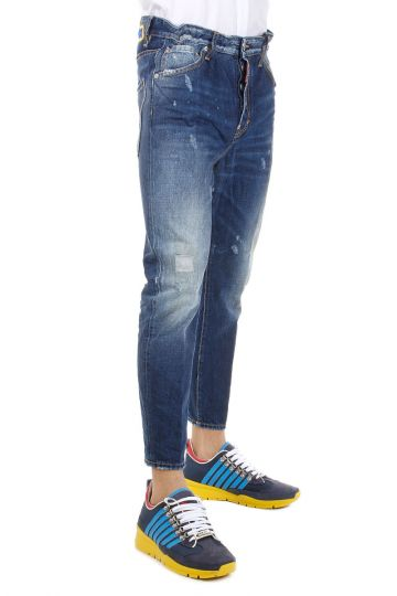 Jeans DAN ELASTIC WAIST in Denim Destroyed 16 cm