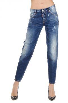 Jeans HOCKNEY in Denim Destroyed 14 cm