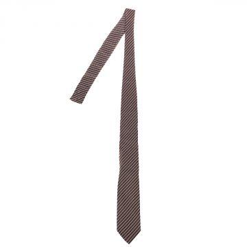 Cravatta a Righe in Seta Jaquard