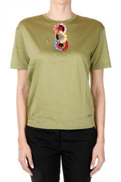 T-Shirt Diana Fit con Applicazioni Gioello